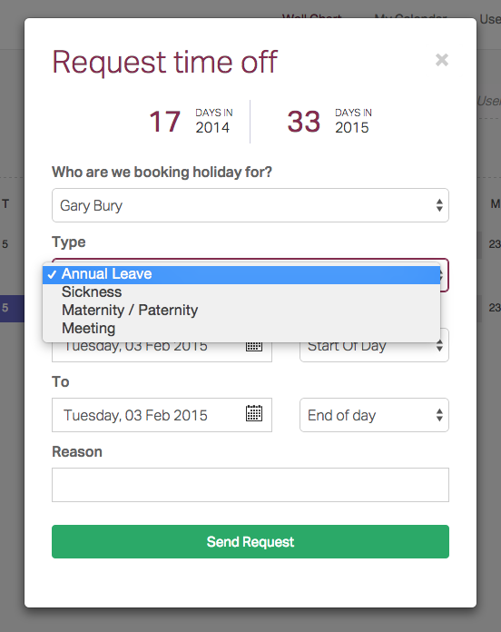 Time Off Request Form – Request off Form