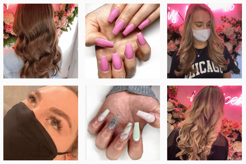 Jasmin French, the owner of a beauty salon in Edinburgh, does hair, nails, and eyebrows.
