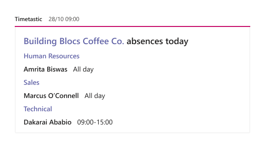 Absence requests in Slack